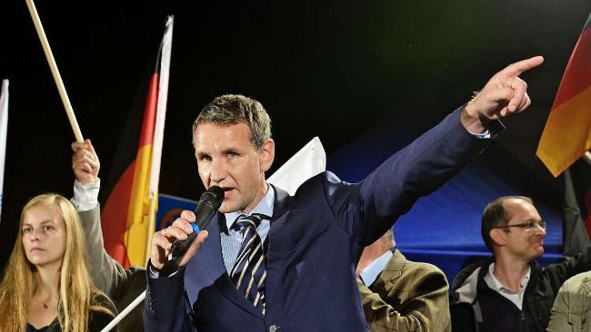 """""""Bernd"""" Höcke, rechtsradikaler Populist und AfD-Chefanheizer, Frontmann des nationalkonservativen Lagers der rechten Partei."""