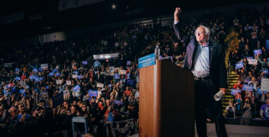 Senator Bernie Sanders. Streiten für die politische Revolution.