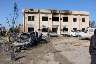 Zerstörtes Polizei-Trainingslager in Zliten in Libyen am 07.01.2016 8 (c) REUTERS