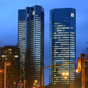 FRANKFURT AM MAIN, Deutsch BAnk Türme (Photo by Thomas Lohnes/Getty Images)