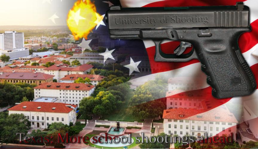 Universitäten in Texas müssen künftig das Tragen von Waffen auf dem Campus grundsätzlich gestatten. Wahnsinn!