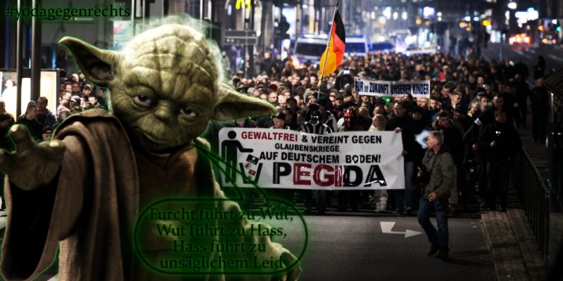 Yoda gegen Rechts: Furcht ist der Weg zur dunklenSeite