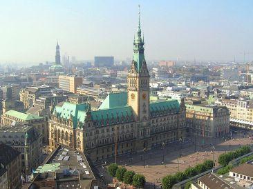Hamburger Rathaus.