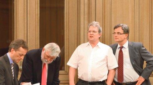 Ludwig Flocken mit Hamburger AfD-Politikern, nach Austritt aus der Fraktion.