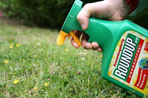 Roundup (Glyphosat) von Monsanto, potentiell krebserregend laut WHO.