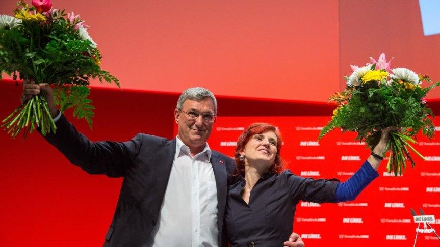 Führungsduo wiedergewählt: Riexinger und Kipping bleiben Doppelspitze der Partei.