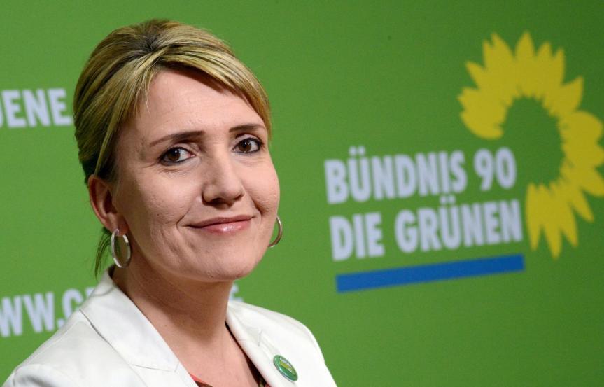 Simone Peter, Bundesvorsitzende der Partei Bündnis 90/Die Grünen, gilt bei den Grünen als Parteilinke.