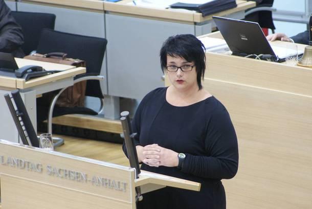 Migrationspolitische Sprecherin der Linkspartei im Landtag Sachsen-Anhalt, Henriette Quade.