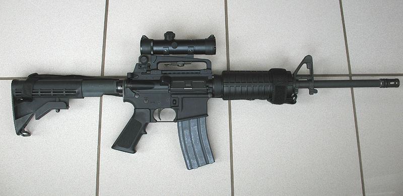 """Legal konnte der Täter ein AR-16 Sturmgewehr, die """"zivile"""" Version des M-16 Sturmgewehrs der US-Army erwerben."""