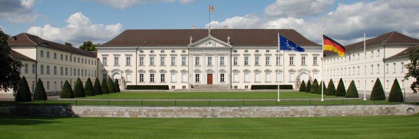 Schloss Bellevue, Amtssitz des Bundespräsidenten.