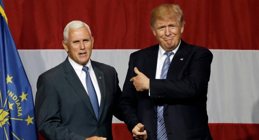 Trump und Pence: Der cholerische Faschist und der ruhigeFanatiker.