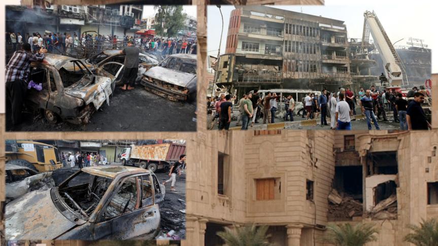 Über 100 Tote bei Bombenanschlägen in Bagdad. – Warum solche Anschläge häufigerwerden.