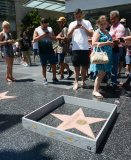 "Hollywood sightseeers on the famous walk of fame were confronted with an unusual edition to Trump's Famous Star. Someone had built a 6"" tall grey concrete wall around it. Complete with ""Keep out"" signs and topped with razor wire. The unofficial addtion to the icon star appeared early Tuesday afternoon, to the amusement of onlookers. There was no word as to who created the humorous installation. However the miniture wall was adorned with ""STOP MAKING STUPID PEOPLE FAMOUS"" which is believed to be the work of LA Street artist Plastic Jesus."