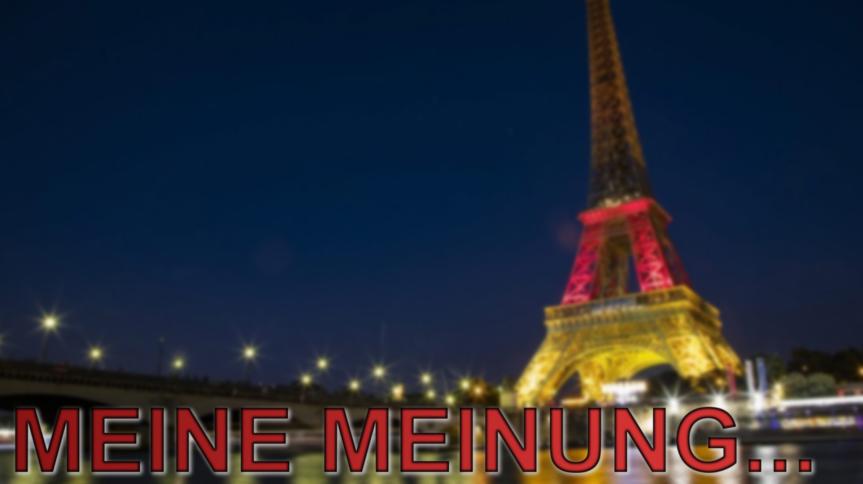Meine Meinung… Zum dreifarbenen Eiffelturm inParis