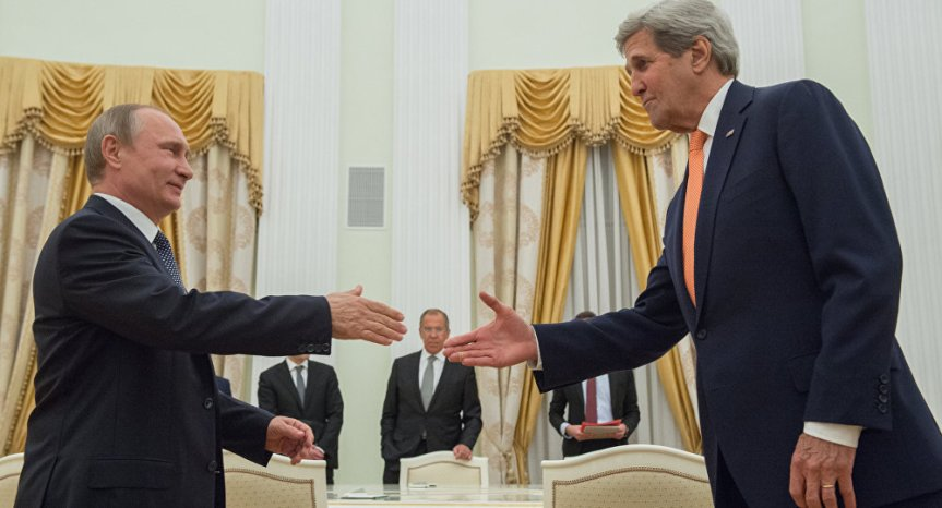 Terrorismus: US-Außenminister John Kerry will mehr militärische Koordination mitRussland.