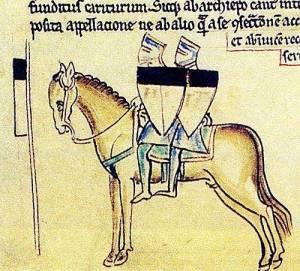 templer-Darstellung aus der Chronik Matthäus von Paris