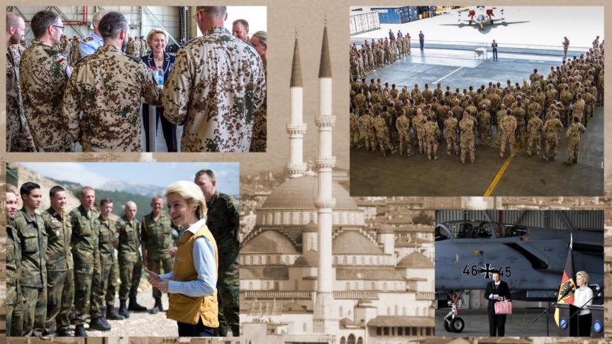 Von der Leyen besucht die Bundeswehr in der Türkei und kann keine Ergebnissevorweisen.