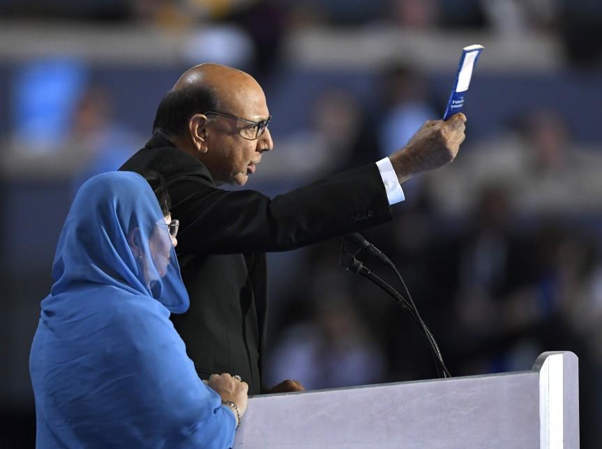 Familie eines muslimischen US-Solaten schadet Trump amstärksten.
