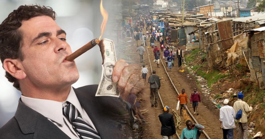 Soziale Ungleichheit nimmt weiter zu: 8 Menschen besitzen soviel Vermögen wie 3,6Milliarden.